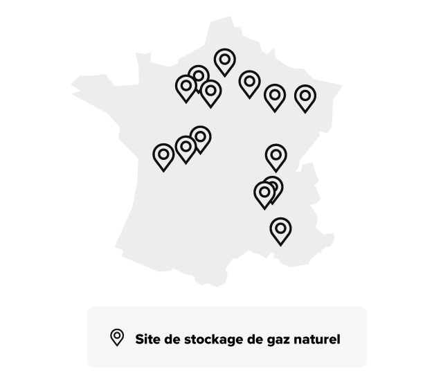 Nos sites de stockage en France